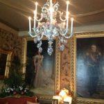 Elegante kroonluchter met halogeen E-candles.