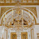 Kroonluchter goud wit
